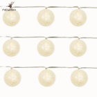 Newish led christmas lights string modern fashion glitter 4cm ball string light, with 10L warm white led , battery operated led