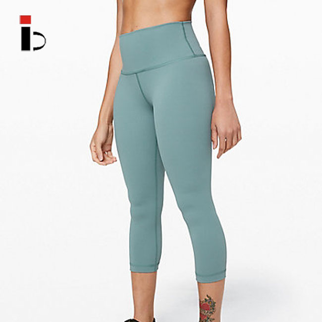 Chinese manufacturer wholesale fitness high quality women green solid yoga leggings