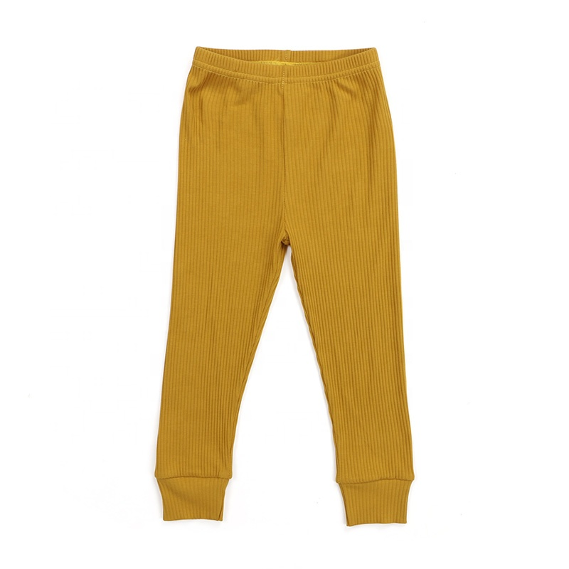Wholesale children clothes kids clothing knit cotton ribbed pant