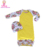Factory Price Leopard Long Sleeve Raglan Baby Gowns Knitted Cotton Girls Sleep Gown With Matching Hat