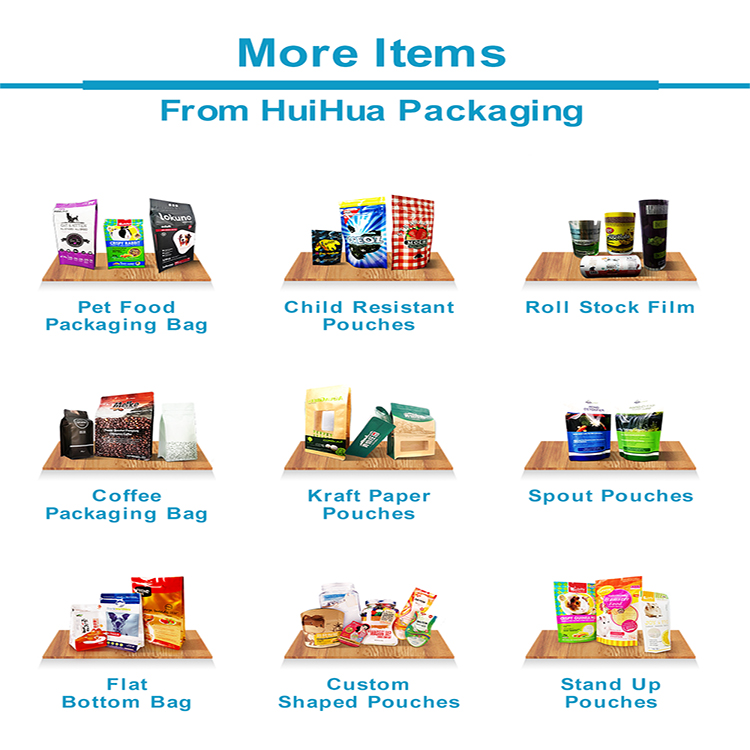 product-Huihua-Wholesale resealable zip lock flat bottom cat snack pouch pet food packaging bag-img-1