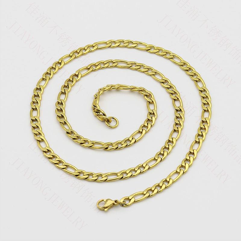 In acciaio inox NK catena di 3: 1 catena Coreana maglione Denim catena in oro placcato lungo 18k gioielli collana