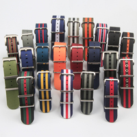 Direct sales Nylon Watch Band Nato Watch strap In 18mm 20mm With Polished Hardware