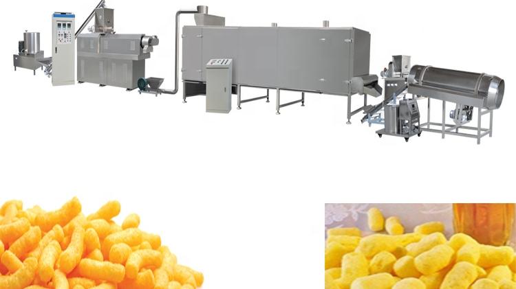 옥수수 스낵 생산 기계 라인 장비 치즈 공 생산 기계 공장