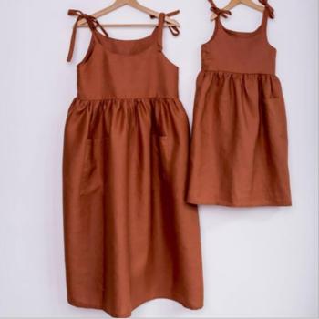 2020 оптовая продажа, семейные одинаковые наряды, платье для мамы и дочери, индивидуальная одежда