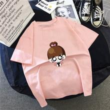 Hirsionsan футболка с мультяшным принтом женская 2020 Harajuku Kawaii эстетические женские футболки для девочек с графическим принтом топы Мягкая Повсед...(Китай)