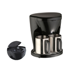 Wholesale mini drip coffee maker with two cups