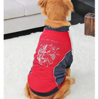 Factory direct new design fashionable cotton dog coats sport pet apparel