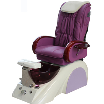 S171-12 Kangzhimei Wholesale Salon Nail Products Pipeless Foot Spa  Pink And Purple Pedicure Chair