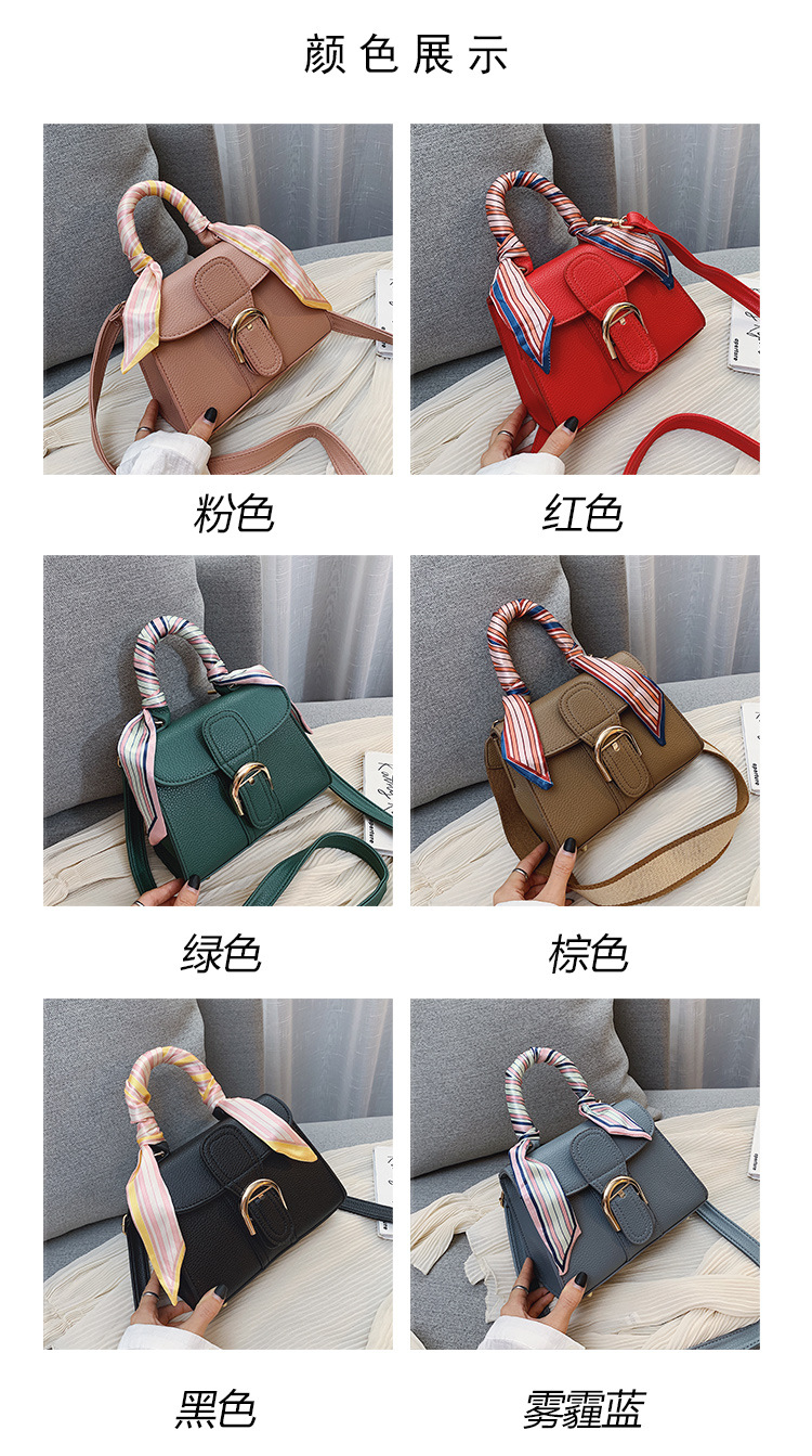 Fashion Women PU Leather Handbag tote handbag with scarf for all season