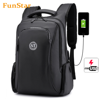 City fashion waterproof USB 15.6 inch Laptop backpack