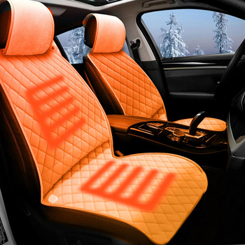 New Factory OEM Multifunctional Electric Heated Car Seat Massage Cover Cushion Set Car Back Support Seat Cushion Memory Foam