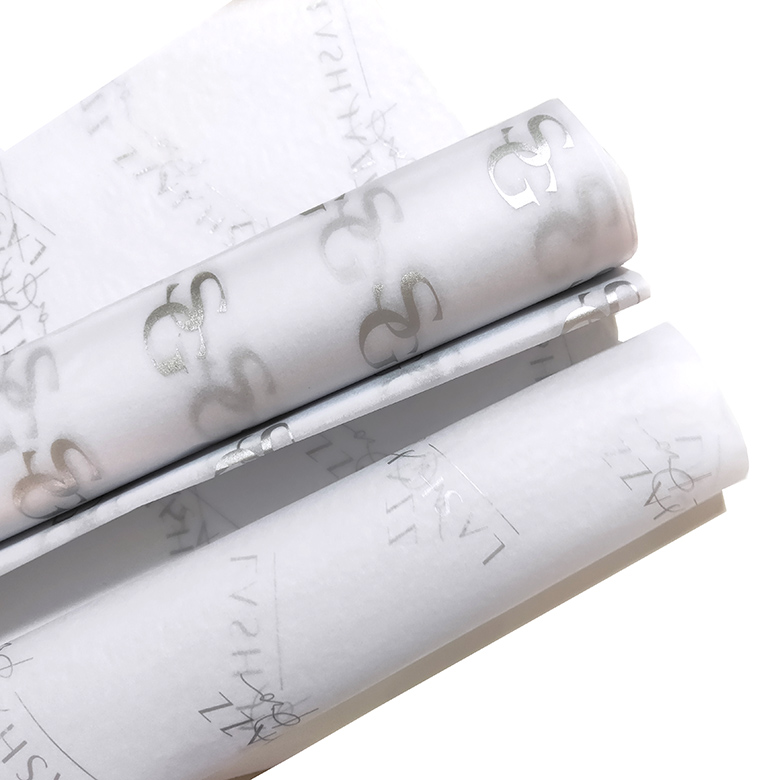 Custom Silver brand name printing gift wrapping tissue paper ,packaging paper for clothes