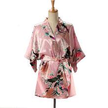 Короткое Стильное женское сексуальное японское платье, традиционное кимоно юката, ночное платье для сна, женское купальное платье, шелково...(Китай)