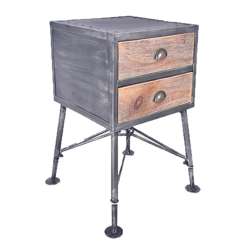 Vintage Industrial Solid Wood Drawers Metal Cabinet Dinging Room Cabinet