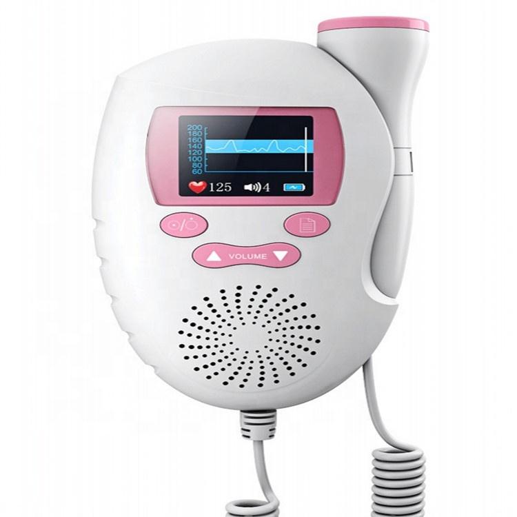 Doppler Medis Genggam Portabel, Monitor Jantung Bayi Doppler Kehamilan, Perangkat Instrumen Ultrasound