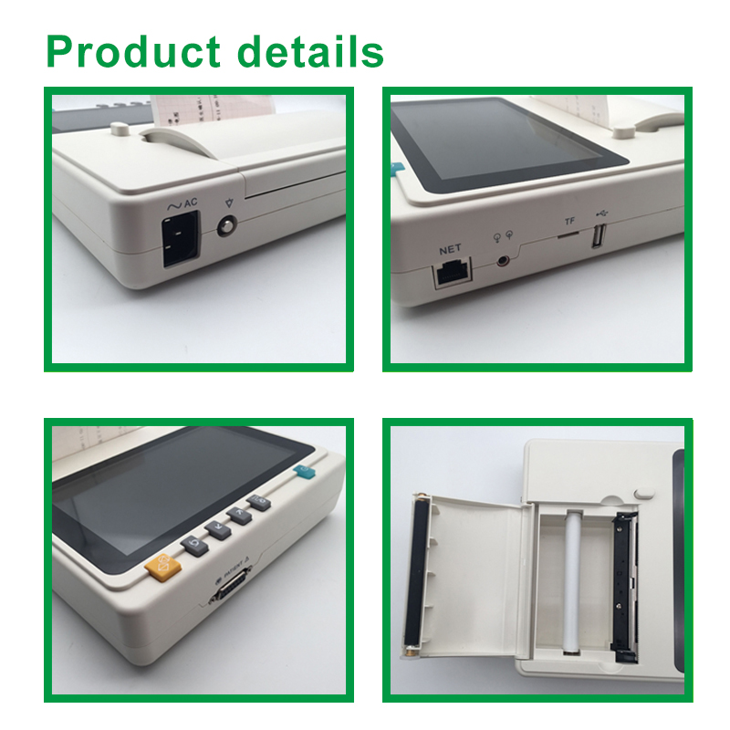 IN-301 Portable Digital  3 Channel ECG  Electrocardiograme  With ECG Printer Paper