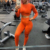 Oem Custom Orange Short Crop Tops Long Sleeve Yoga Sets