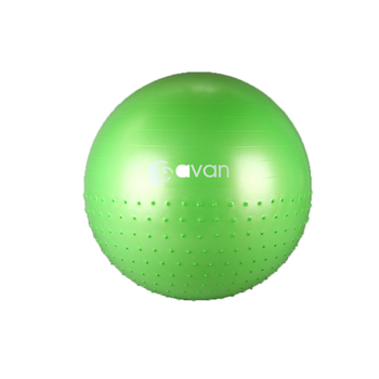 GOLDEN YUELAI Manufacturer wholesale New pvc Stability  yoga ball gym natural pvc 65cm heated massage ball