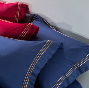 Sapphire blue 40s 60s 80s 100s luxury comforter Embroidery Bedding Set