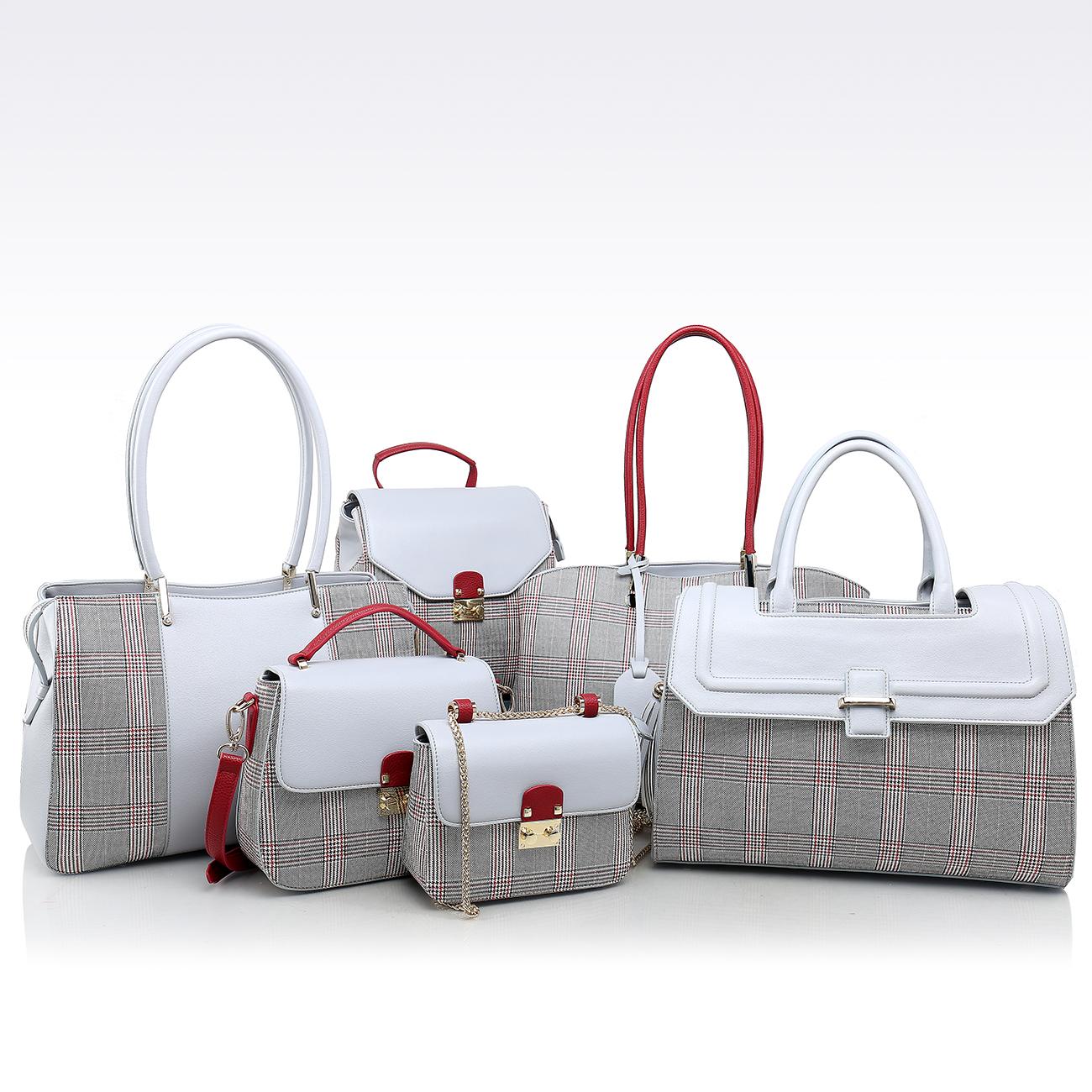 Оптовая продажа сумки для женщин из искусственной кожи 2019 Сумки из натуральной кожи Лидер продаж, комплект из 6 шт., доставка от производителя