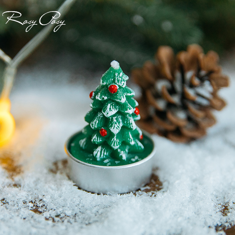 Christmas Tealight Candles Handmade Delicate Candles for Christmas Decoration