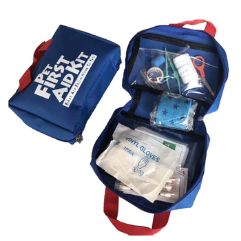 Hot sell soft nylon bag customized logo color pet first aid kits wholesale