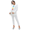 Single Button White Casual Ladies Blazer Design long sleeves jacket For Women