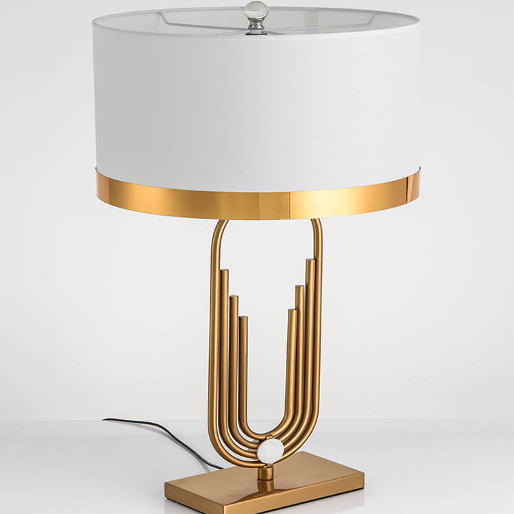 Hotel modern white fabric shade home decorative bedside living room art desk <strong>lamp</strong>