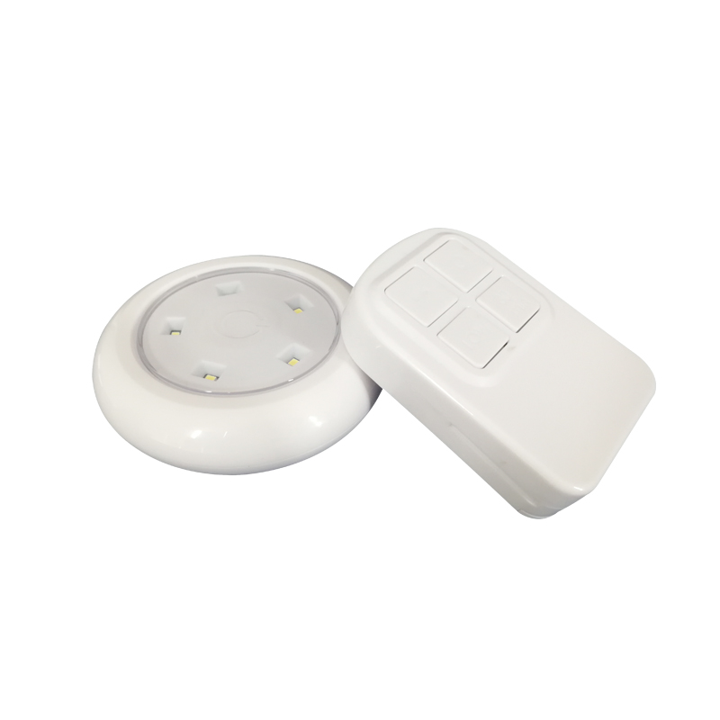 Battery Operated Kitchen Cabinet Lights LED Puck Light Kit 4+1 Pack Dimmable Cabinet Light Closet