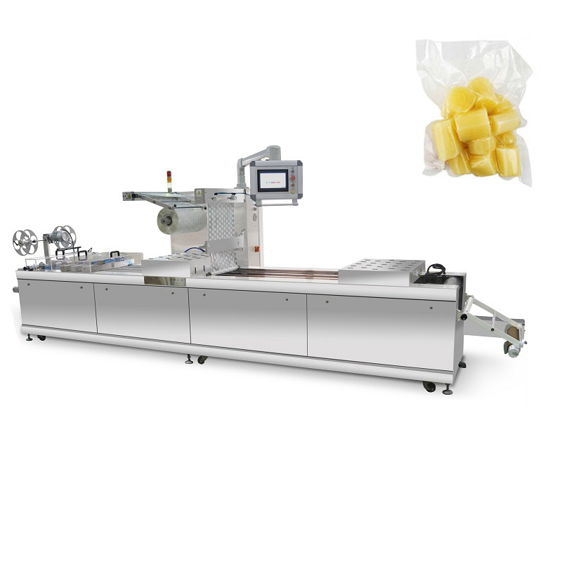 High stable flexible film automatic thermoforming vacuum sausage food packaging machine