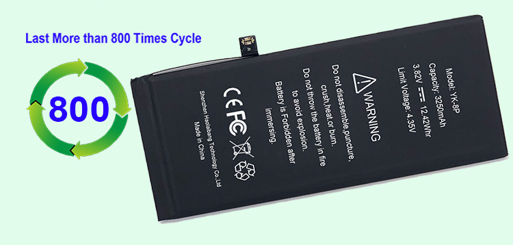 Mobile Phone Battery For Iphone 8 Plus A Grade 3.8 V 2691 mAh 8Plus Battery Factory 100% Test 0 cycle OEM