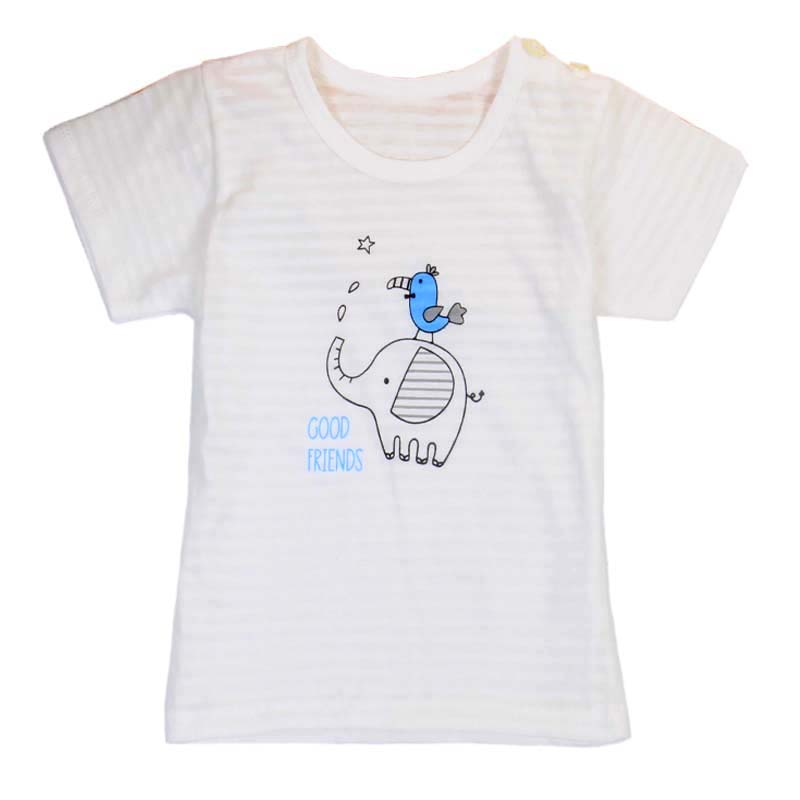 Hot SalBaby cotton light-colored short-sleeved  summer short-sleeved T-shirt bulk wholesale baby clothes