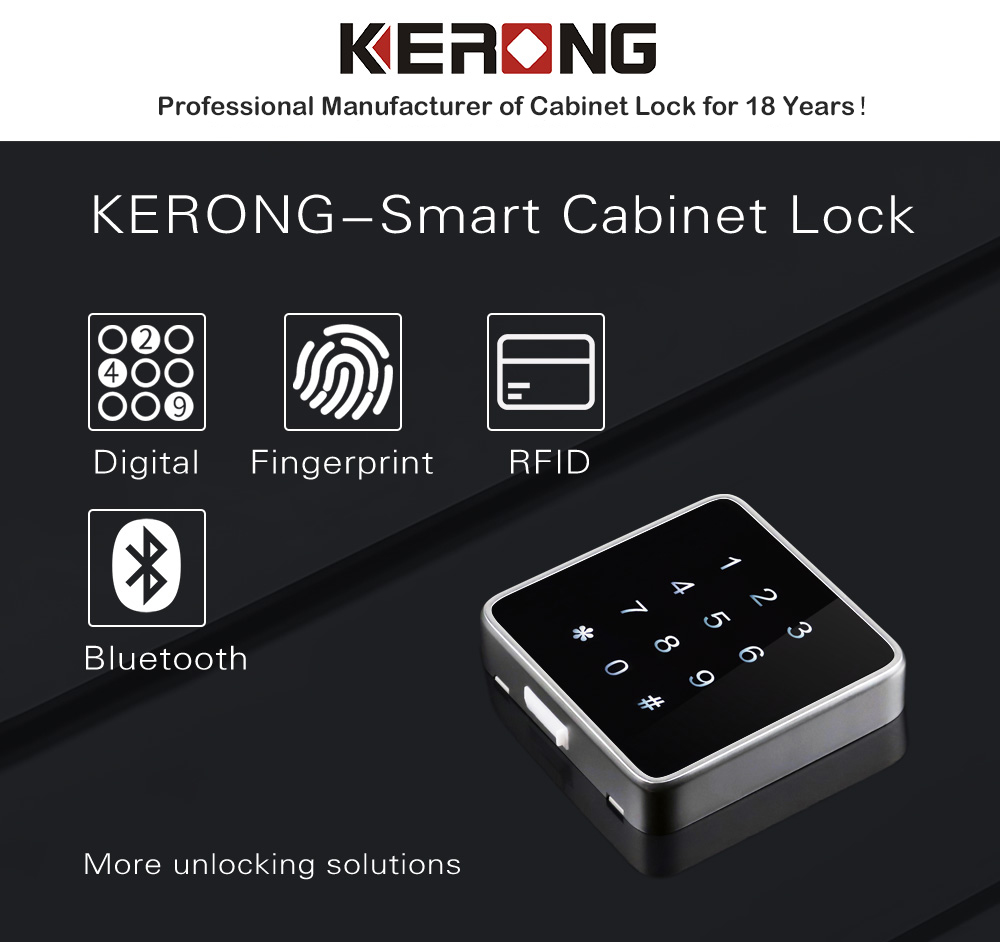KERONG Best Product Smart RFID or Digital Password Drawer locker Lock