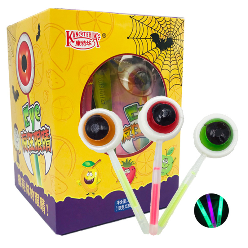 New design Eye Shape Light Lollipop Casual Snacks