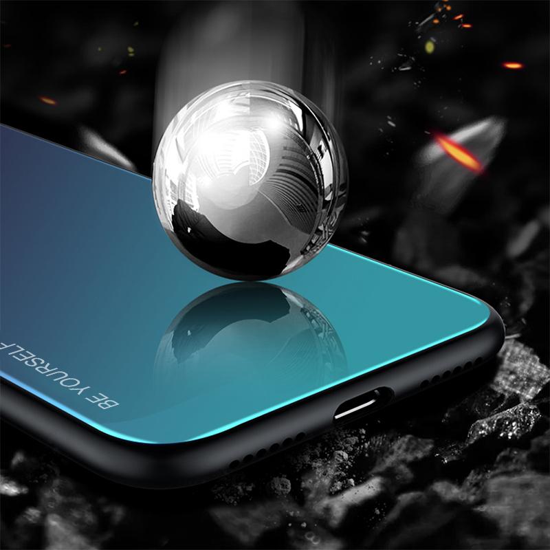 Gradienten Gehärtetem Glas Abdeckung Für Xiaomi Redmi K20 Hinweis 7 5 6 Pro 6A Fall Xiaomi Mi 8 A2 Lite a1 Mi8 Note8 Pro Pocophone F1 Fall