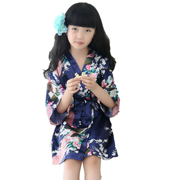 lasted lovely flower girl  robes Wholesale  artificial SILK  bridal maids  women  robes wedding  group make up  robes