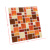 Mosaic type removable self adhesive 3d decor wall sticker 250*250mm/sheet