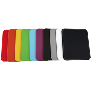RGB Custom Logo PU Leather Office Gaming Hardware Mini Plain Color Mouse Pad for Work