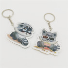 Acrylic Plastic Transparent Keychain Custom Printed Acrylic Charms with Smooth Laser Cut