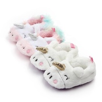 Fluffy Soft Touch Infant Baby Winter Shoes Socks Boots LOW MOQ Cheap Fleece Plush Plain White Baby Shoes
