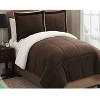 Super soft microfiber sherpa blanket reversible alternative down comforter