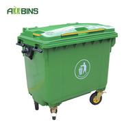 660/1100 litre recycle bin recycling trash container toy garbage can plastic wheelie bin waste bins emptier singapore