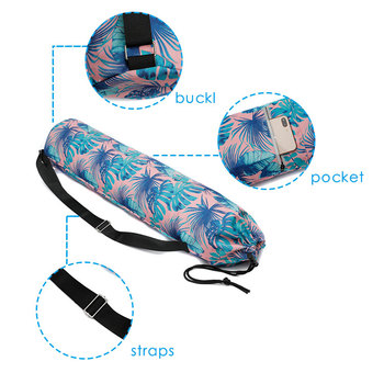 Custom Sports Fitness Tote Strap Waterproof Canvas Gym Yoga Tote Bag Yoga Mat Bag With Pocket