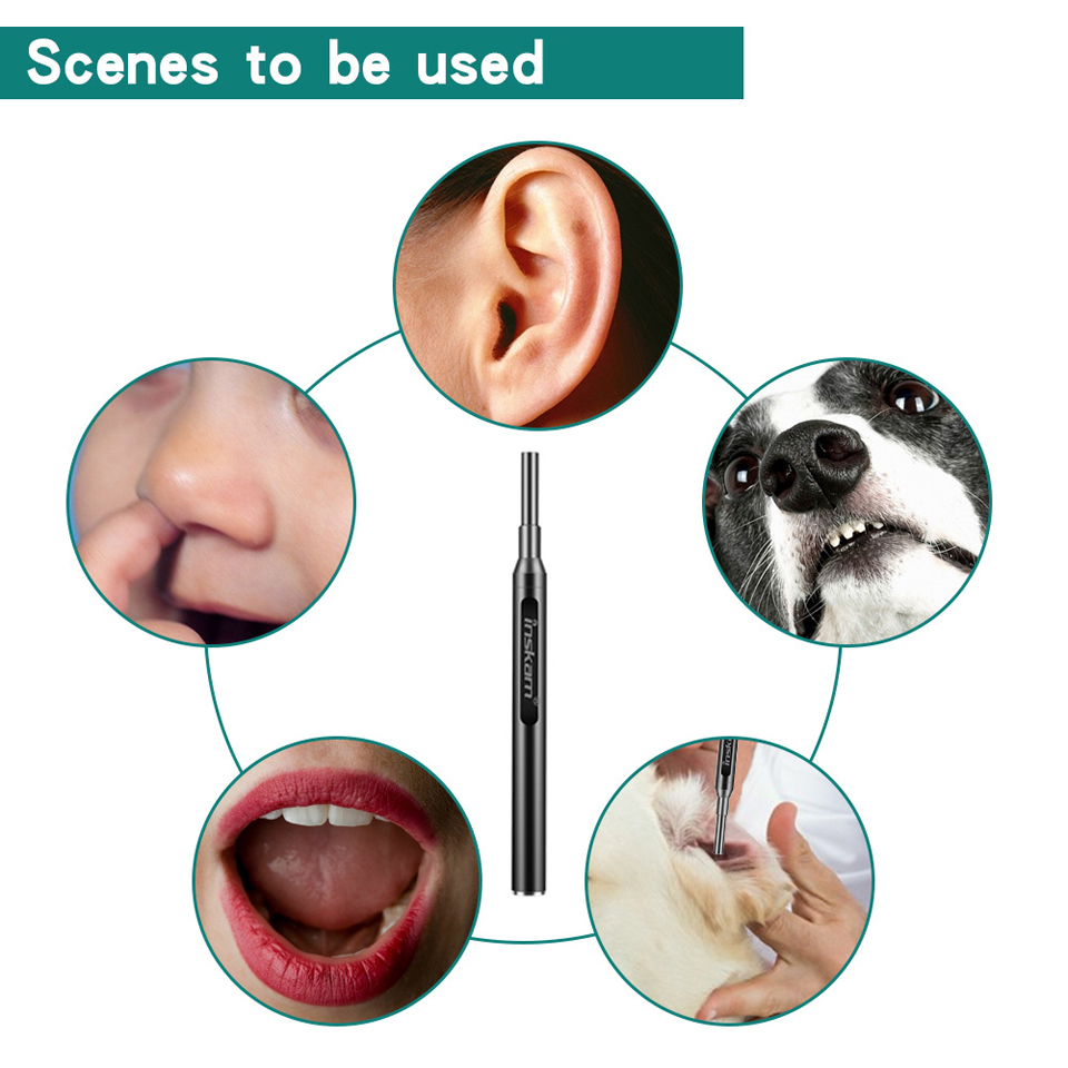 HD visual earpick waterproof wifi android ear endoscope
