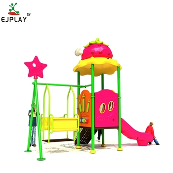 plastic kids play set amusement park outdoor playground for sale