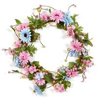 Front Door Spring Wreath with Beautiful Berry