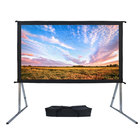 "Rear / Front 100"" Inch 120"" Inch Fast Fold Outdoor Portable Projector Screen Fabric Portable Foldable Projection Screen"