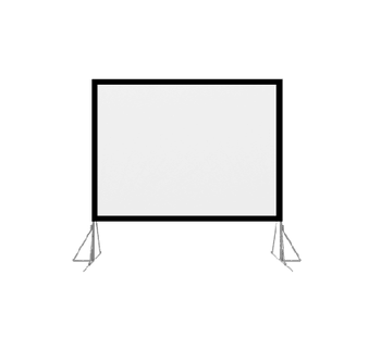 92- 200 inch fast quick fold projection screen with drapes