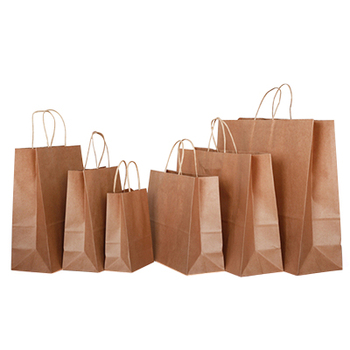 China supplier colored kraft paper gift shopping bag manufactures
